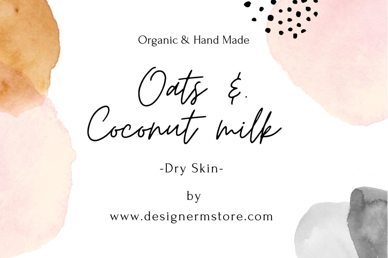 Oats & Coconut Milk Organic Soap - For Dry Skin