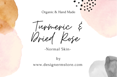 Dried Rose & Turmeric Organic Soap - for Normal Skin