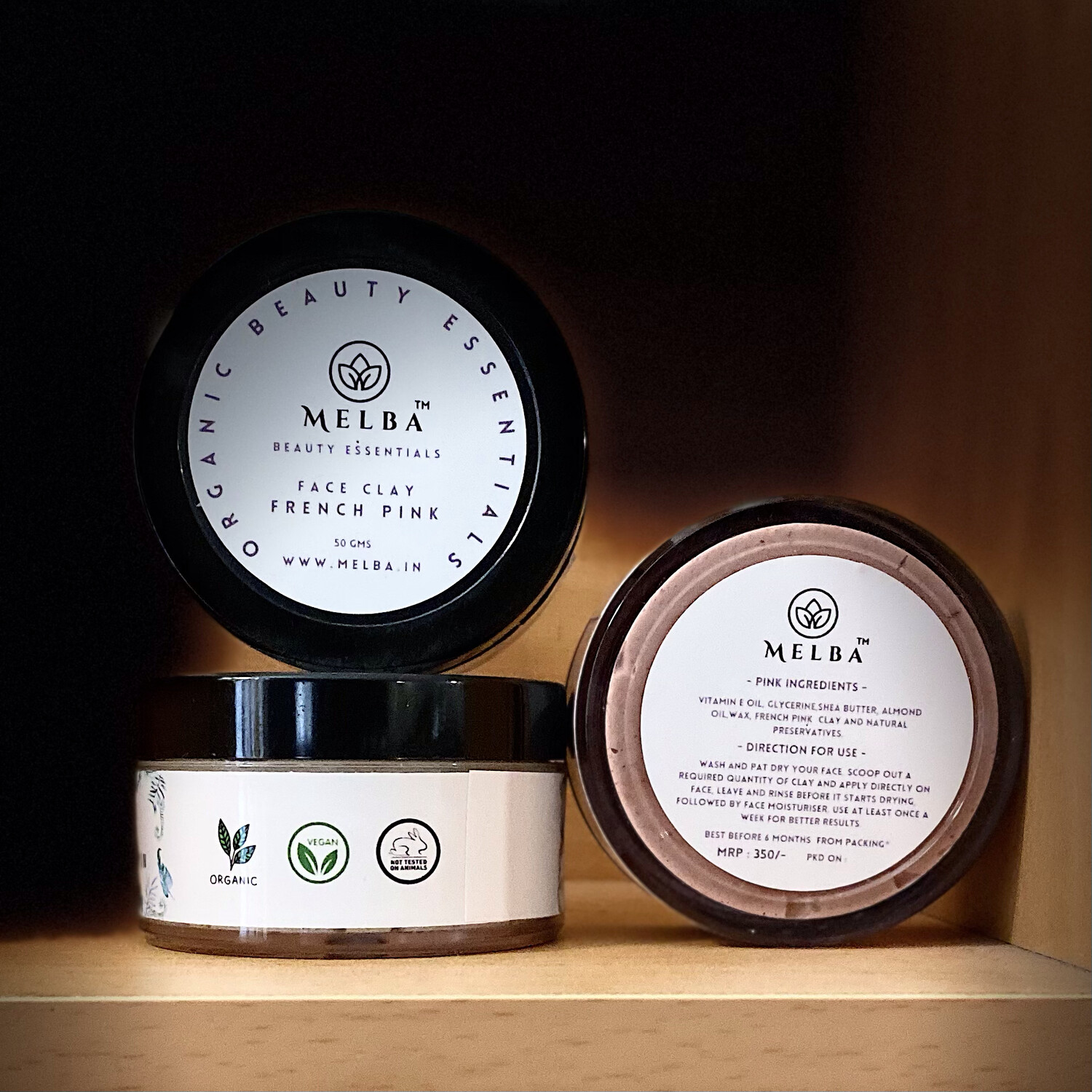 French Pink Clay - Face Mask (50gm)