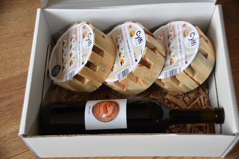 Geschenkdoos CYLFI + rode wijn
