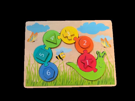 Playtive Zahlen-und Formenraupe