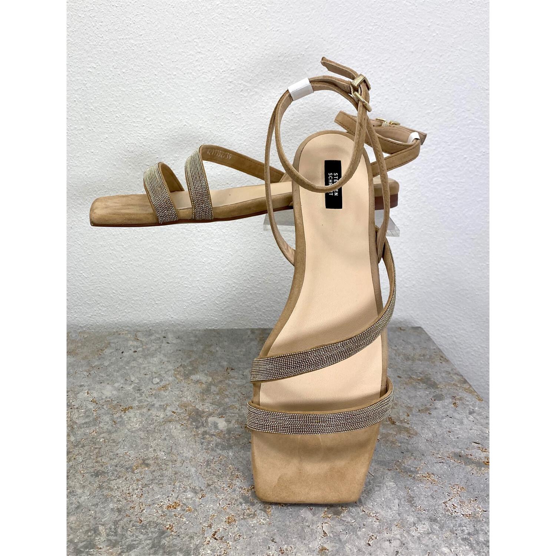 Wildleder-Sandale