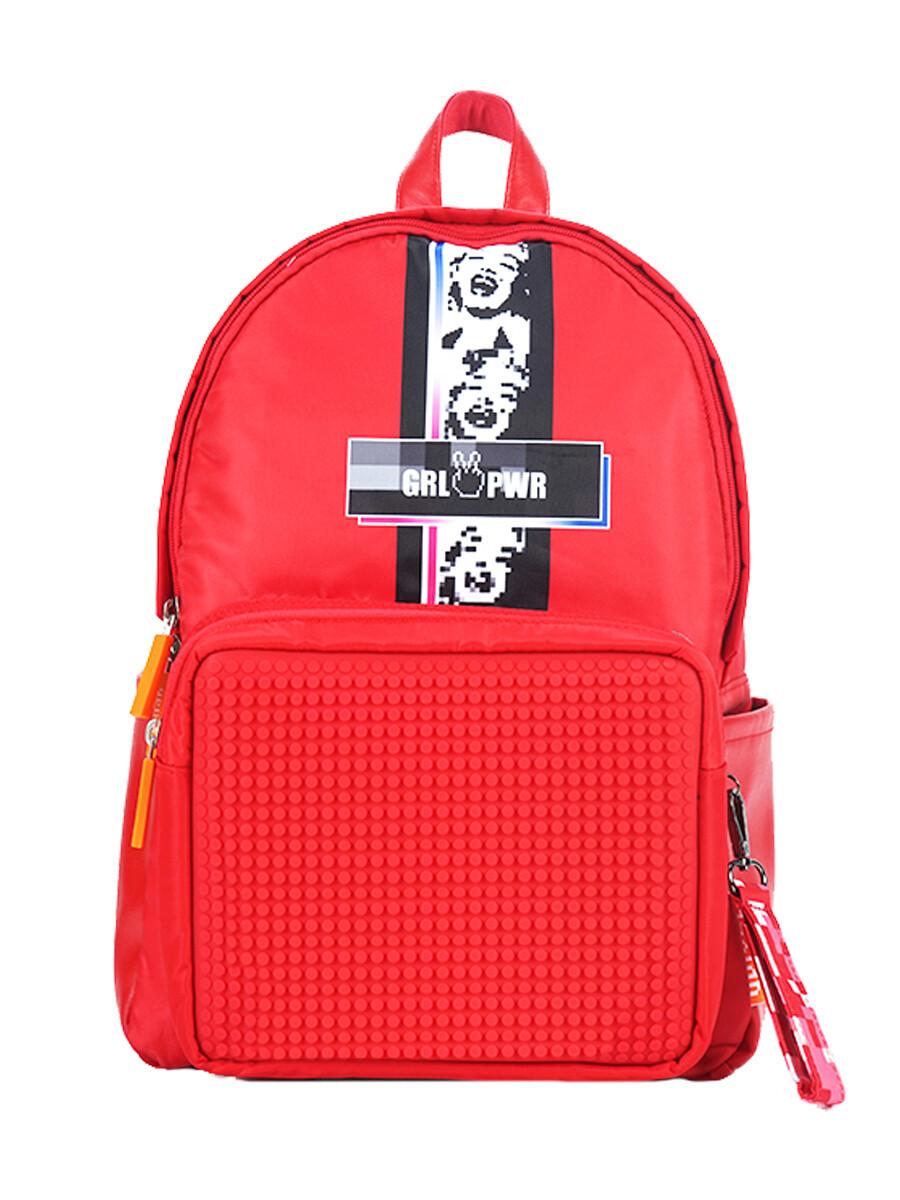 Рюкзак пиксельный Girl Power красный
