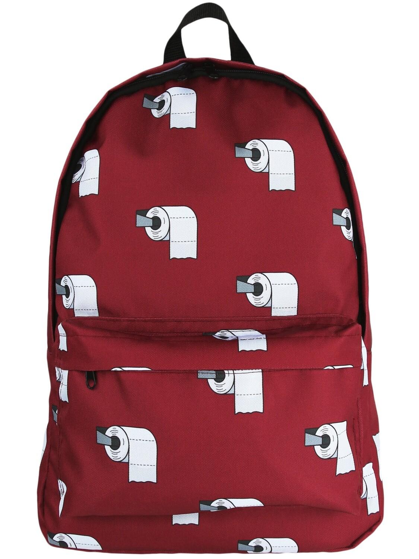 Рюкзак с туалетной бумагой