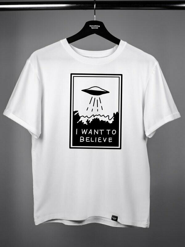 "Футболка ""I want to believe"" белая"
