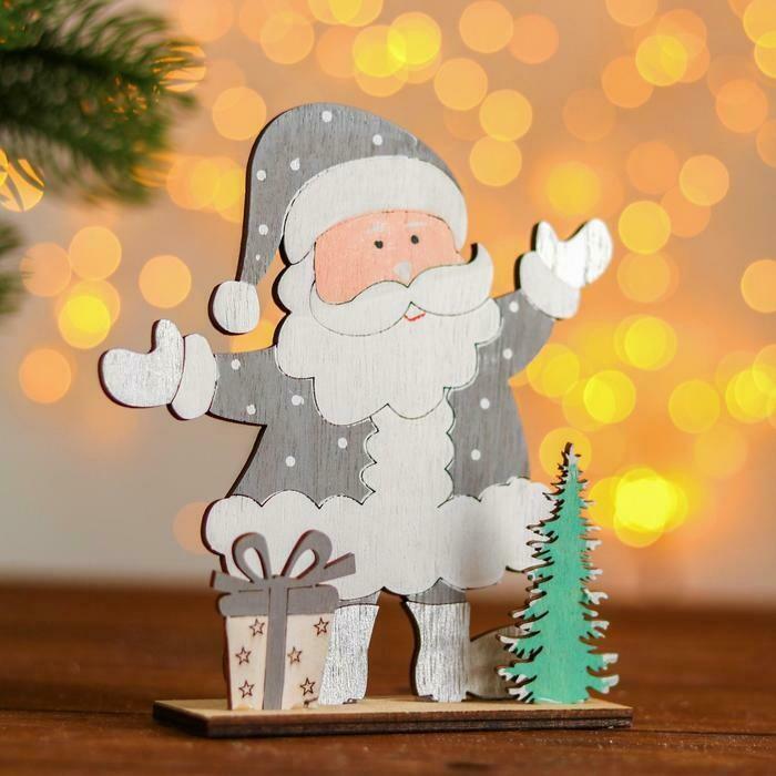 Новогодний настольный декор «Дед Мороз с подарками»