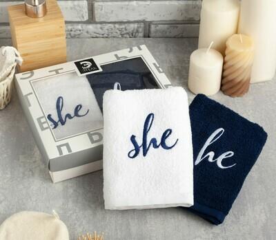 """Набор полотенец """"She & He"""""""