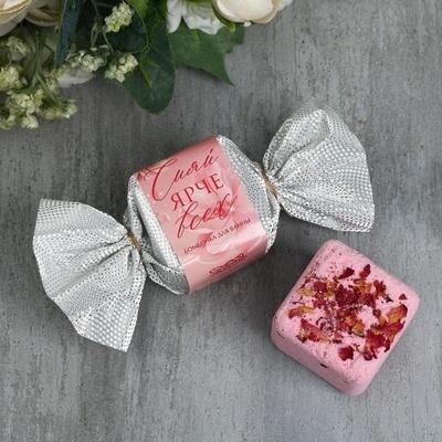 Бурлящий кубик с ароматом розы