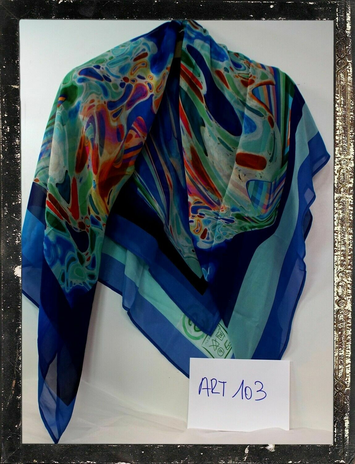 Foulard moda in pura seta di crepe de chine cm 135x135 - Made in Italy