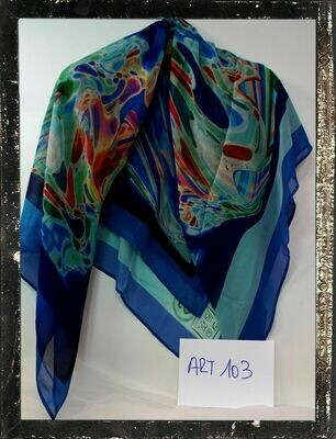 Foulard moda in pura seta di crepe de chine cm 135x135 - Made in Italy