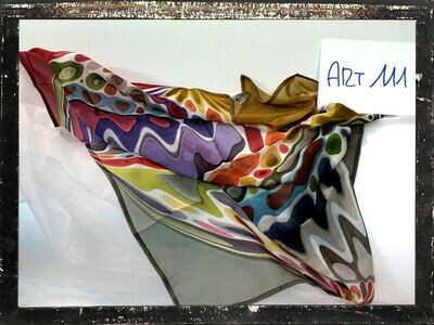 FOULARD MODA ART111  In pura seta di crepe de chine cm 60x60- Made in Italy
