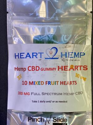 3X 30 mg Hemp CBD Gummy Hearts