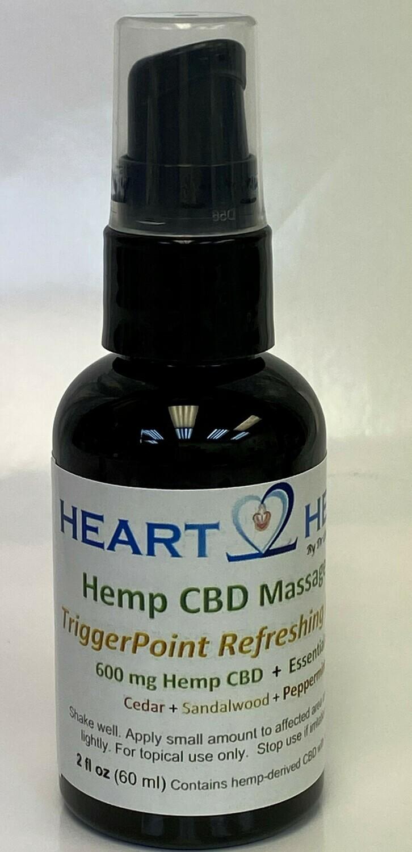 TriggerPoint ReLeaf Massage Oils - with Hemp CBD  + Essential Oils