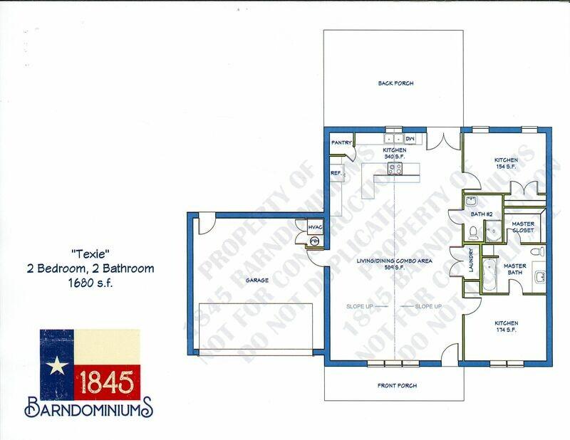 """Texie"" Floor Plan  2 bedroom, 2 bath - 1680 sf"