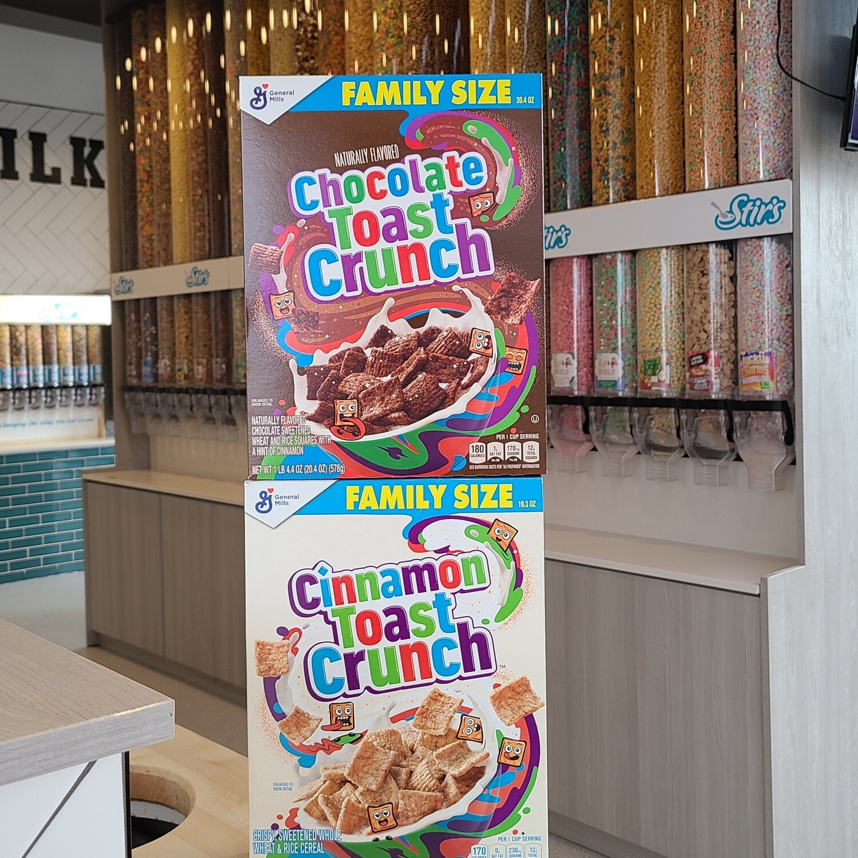 2 Cinnamon Toast Crunch Boxes