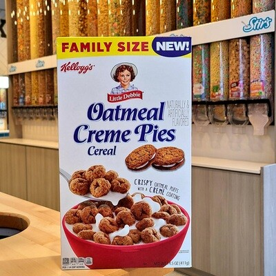2 Little Debbie Oatmeal Creme Pie Cereal Boxes
