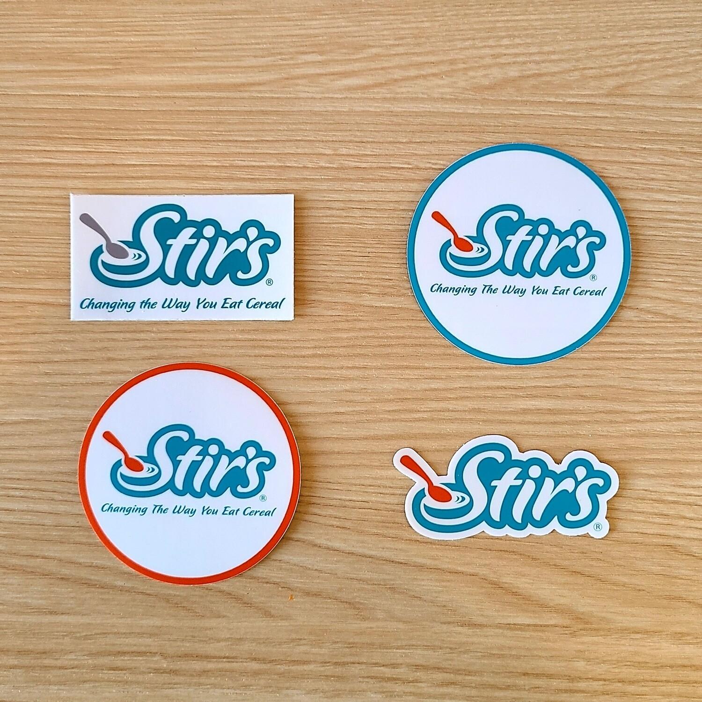 Stir's Sticker 4 Pack