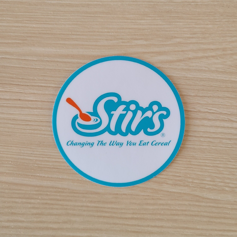 Blue Circle Stir's Sticker