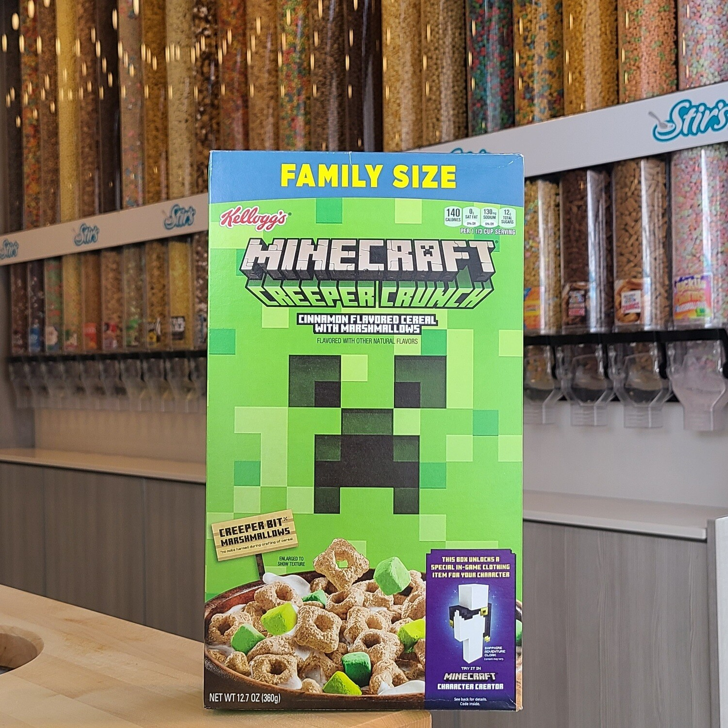 2 Minecraft Cereal Boxes