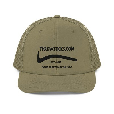 Throwsticks Mesh Back Trucker Cap (Tan)