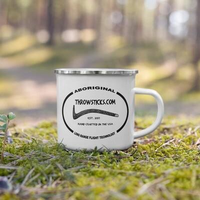 Throwsticks Enamel Mug