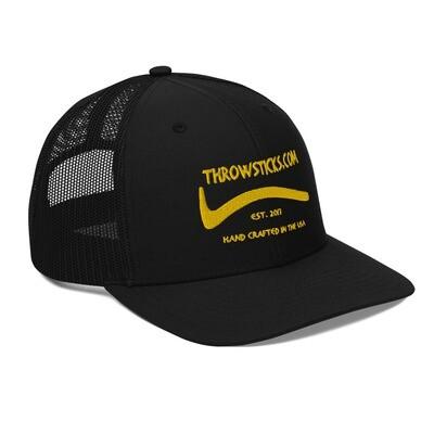 Throwsticks Mesh Back Trucker Cap (Black)