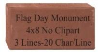 "4 x 8"" Engraved Brick"