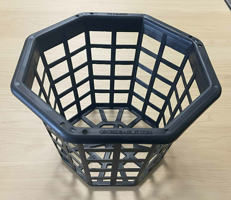 Black Plastic Octagonal Orchid Basket
