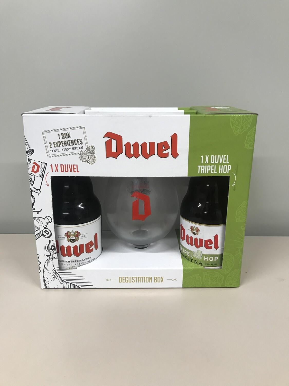 coffret duvel 33 cl  2 bouteille +1 verre