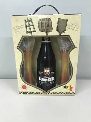 coffret kwak 75 cl  1 bouteille + 2 verres
