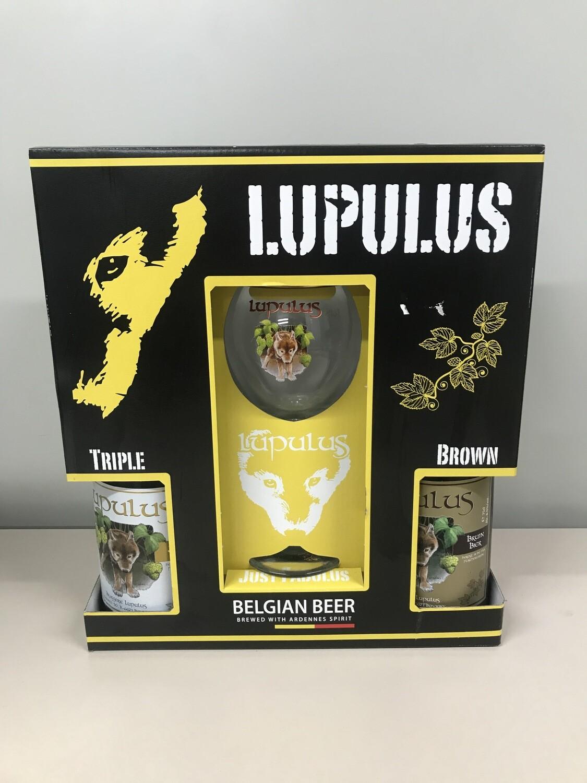 coffret lupulus 75 cl 2 bouteilles +1 verre