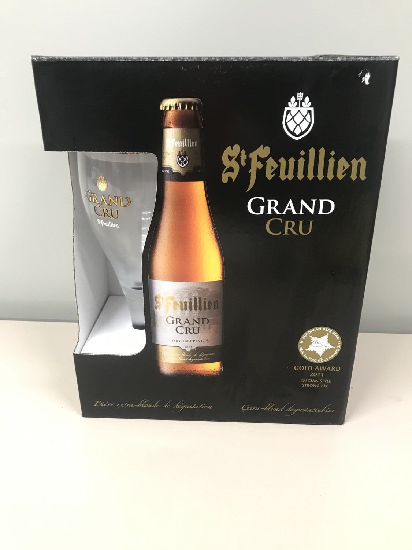 coffret st-feuillien grand cru 75 cl 1 bouteille+1 verre