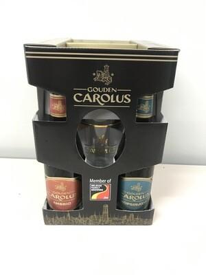 coffret carolus 33 cl  4 bouteilles +1 verre