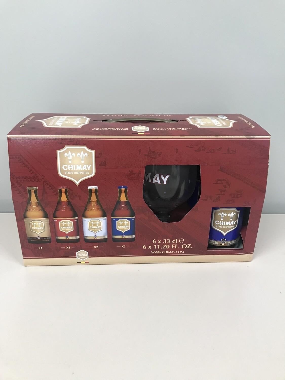 coffret chimay 33 cl   6 bouteilles +1verre