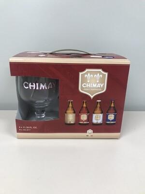 coffret chimay33cl  4 bouteilles+1verre