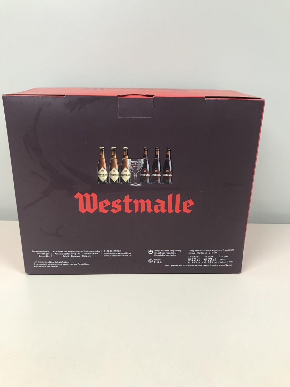 coffret westmalle 33 cl  6 bouteilles +1 verre
