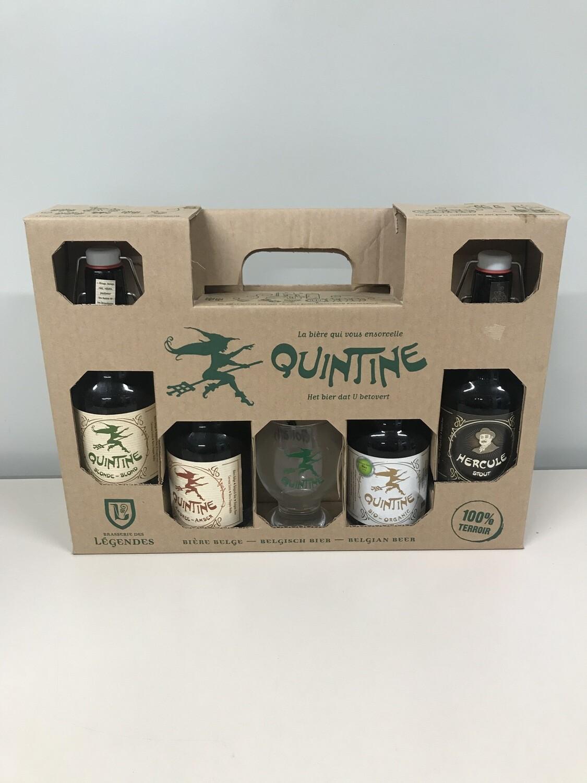 coffret quintine 33 cl  4 bouteilles +1verre