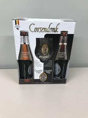 coffret corsendonk 33 cl 2 bouteilles +1 verre