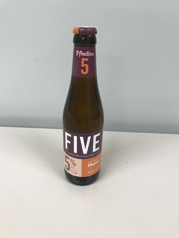 biere st-feuillien five blonde 5% 33cl