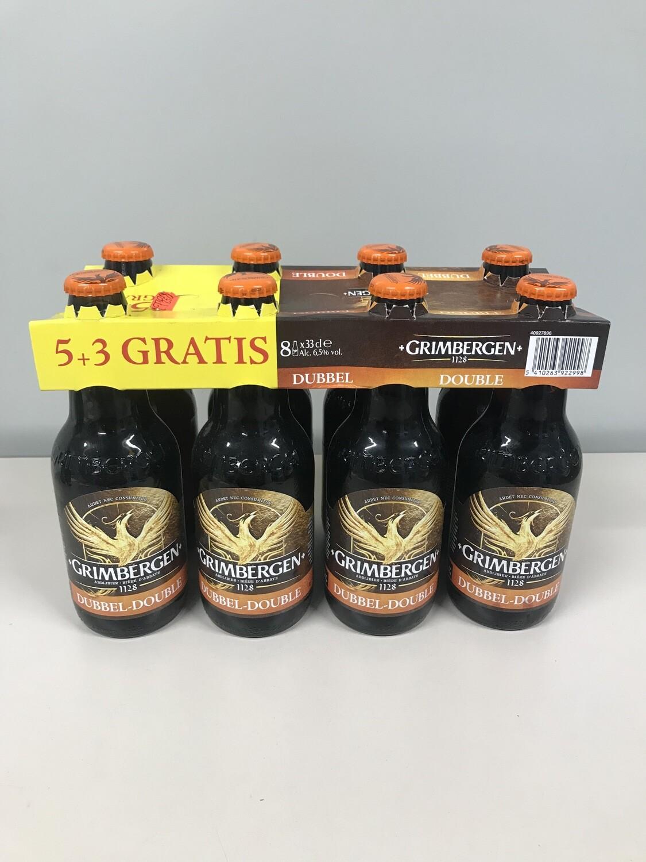 biere grimbergen double 8 pack 8% 33cl