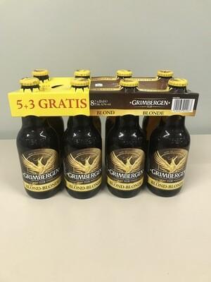 biere grimbergen blonde 8pack 6% 33cl