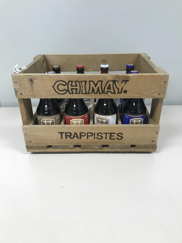 coffret chimay 10bouteilles +2 verres