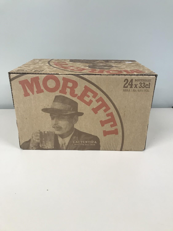 biere moretti 33cl en pack de 24 bouteilles