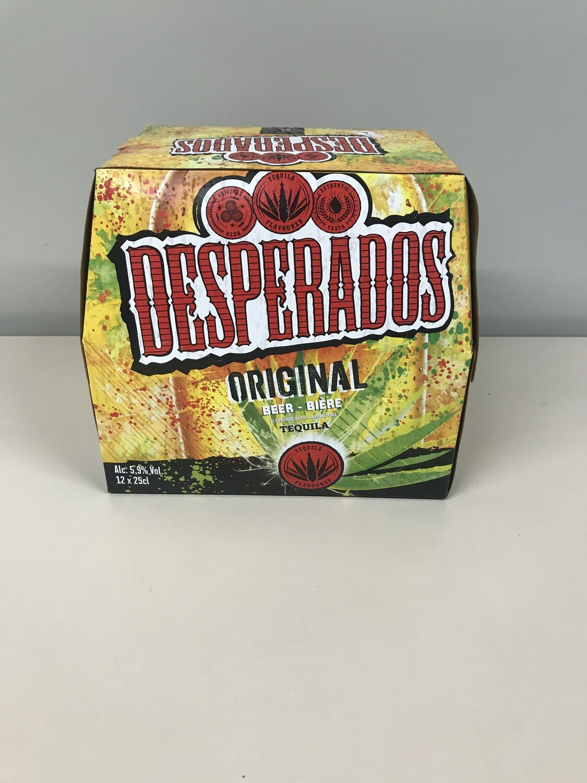 biere desperados 25 cl en pack de 12 bouteilles
