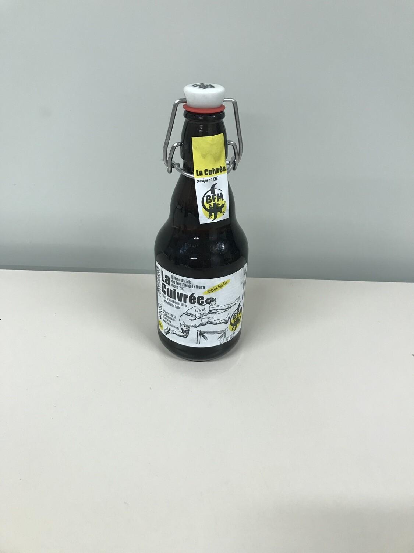 biere bouteille cuivree 4.5% 33 cl 4.- + 1 fr.consigne
