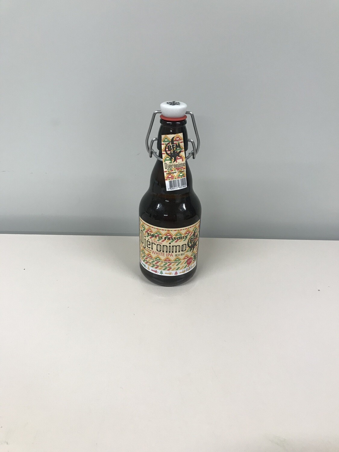 biere bouteille djeronimo blanche ipa 5.35% 33 cl  4.- +consigne 1.-