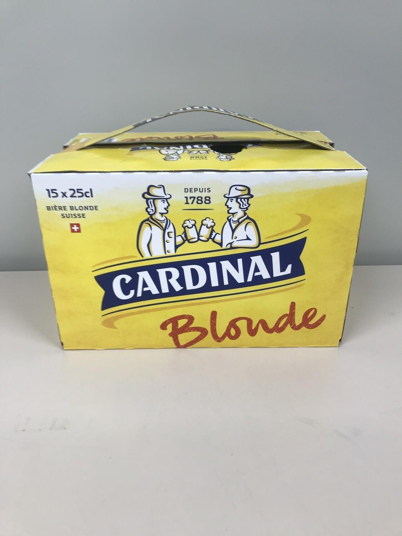 biere bouteille cardinal blonde 25 cl 4.8%  pack de 15 bouteilles