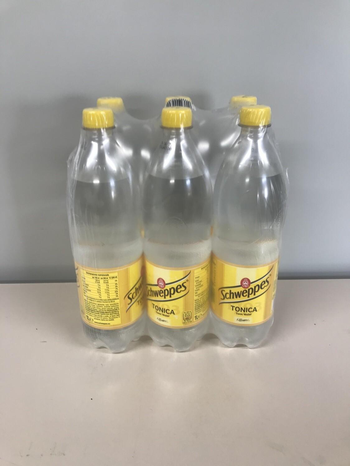 soft schweppes tonic 6 X 1l