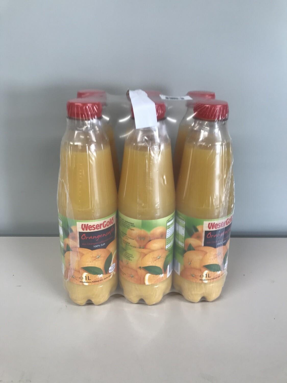 soft jus d'orange wesergold 6 X 1l pet