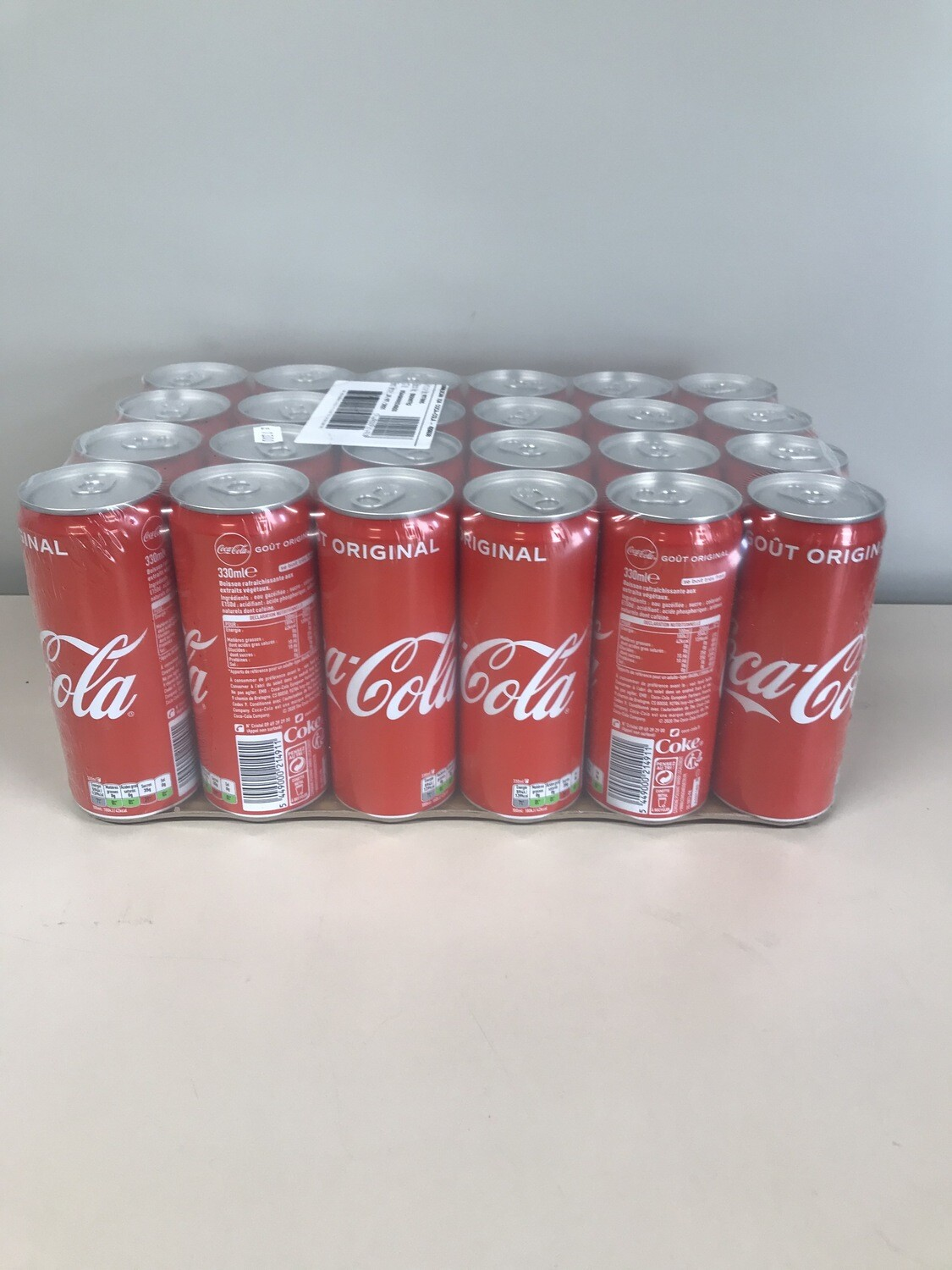 soft coca-cola canette 24 X 33cl